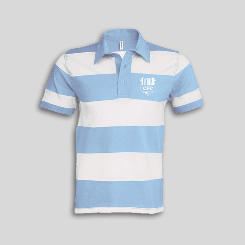 huge selection of 8f3e3 ece56 CFC Poloshirt Himelblau gestreift mit Logo