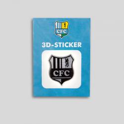 CFC 3D Aufkleber schwarz