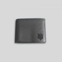Ledergeldbörse schwarz/blau