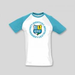 CFC T-Shirt blau/weiß