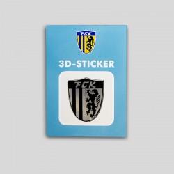 FCK 3D Aufkleber schwarz